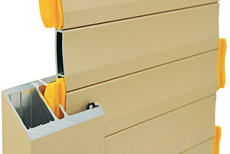 The Extruded Maxiblock Roller Shutter from Blockout features unique sidelocking chambers.