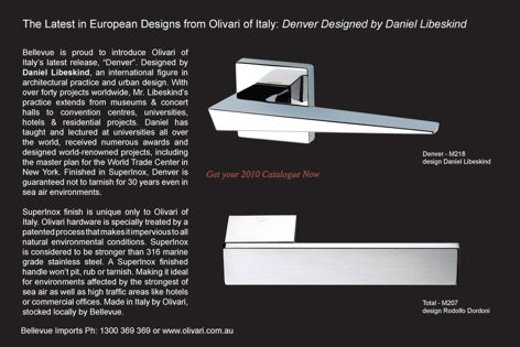 Olivari's Denver door hardware
