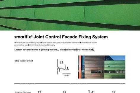 Smartfix joint control facade fixing