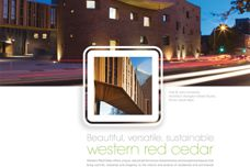 Beautiful, versatile, sustainable western red cedar